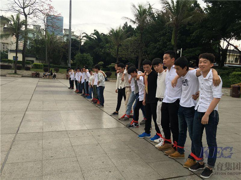 嘉华学员户外体操娱乐活动