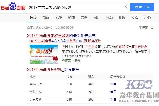 广东高考低分能上哪些学校