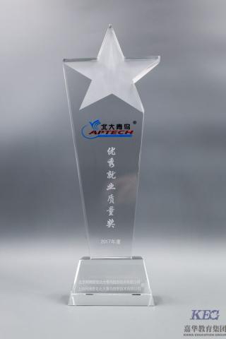 北大青鸟深圳嘉华学校2017再次荣获全国优秀就业质量奖